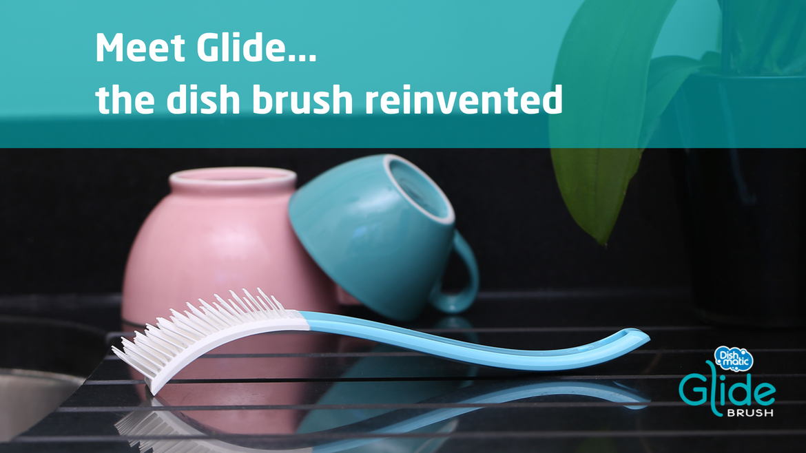 *New Product Alert* Meet Glide, the dish brush reinvented