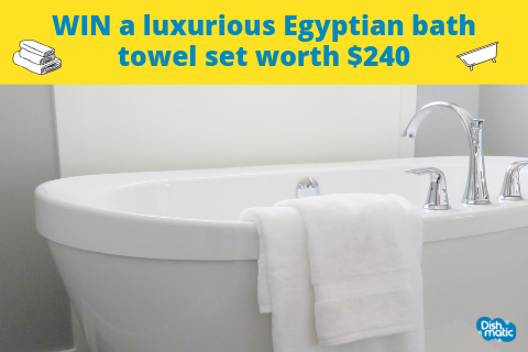 International Bath Day: WIN a luxurious Egyptian bath towel set worth $240! (Australia)